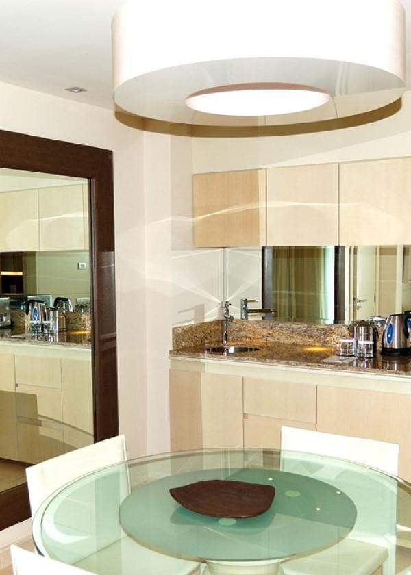 Mount A Mirror glass in kitchen