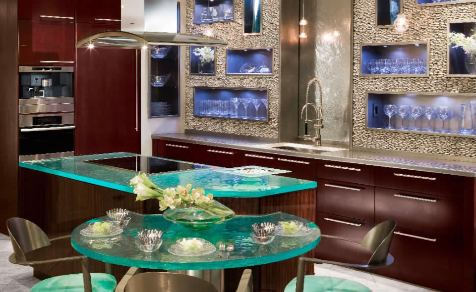 Use Your Glassware As Decoration in your kitchen