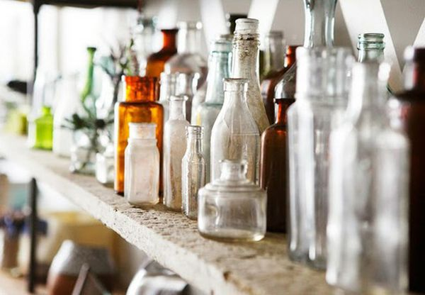 Decorative Colored Glass Bottles Beauteous Decorating With Glass Bottles Ideas & Inspiration Decorating Design