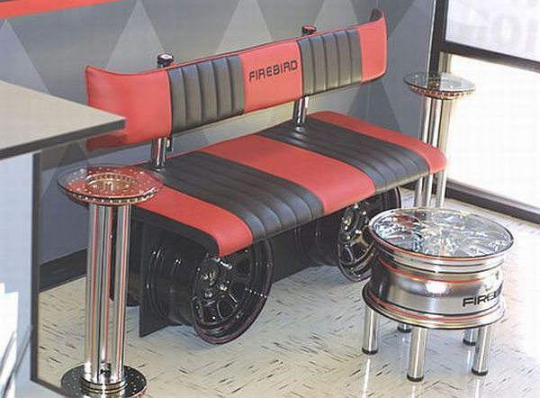 Auto inspired furniture for car lovers for Auto decoration parts