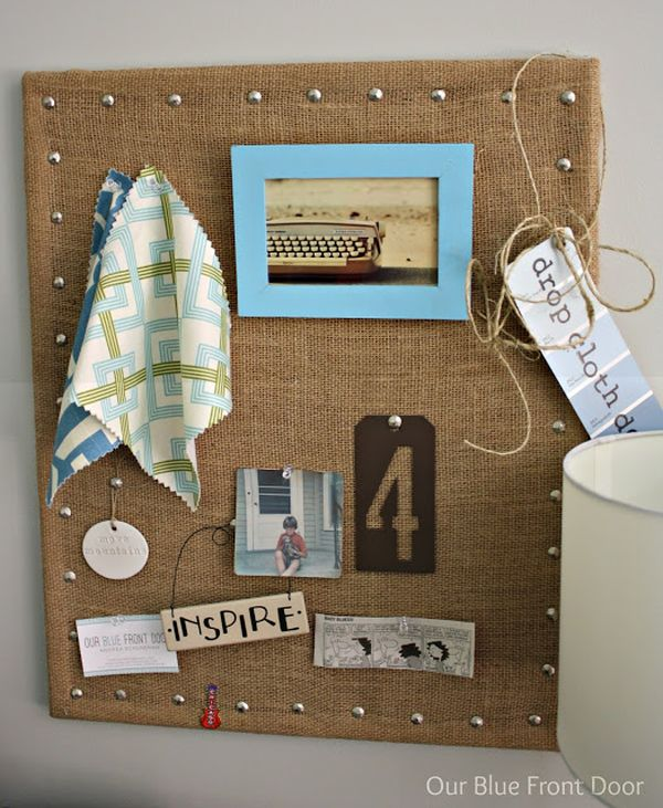 Burlap Board. Ideas