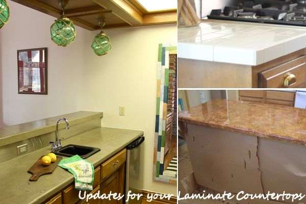 Diy updates for your laminate countertops without for Can you replace kitchen cabinets without replacing countertop