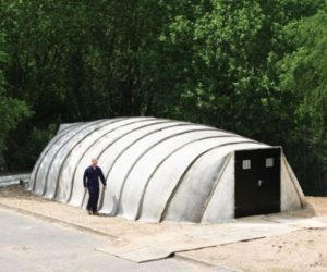 Inflatable Concrete Building That Can Be Built In One Day