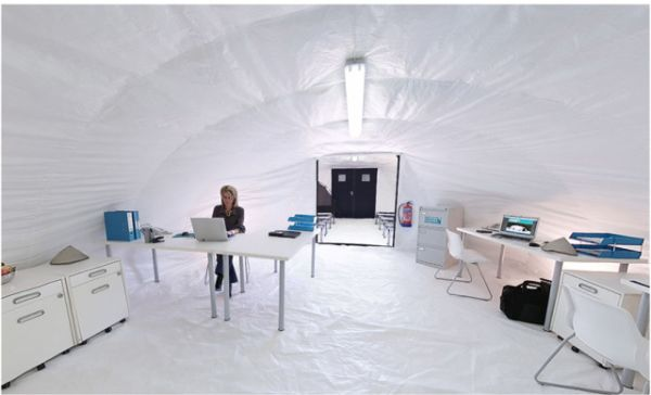 View in gallery & Inflatable Concrete Building That Can Be Built In One Day