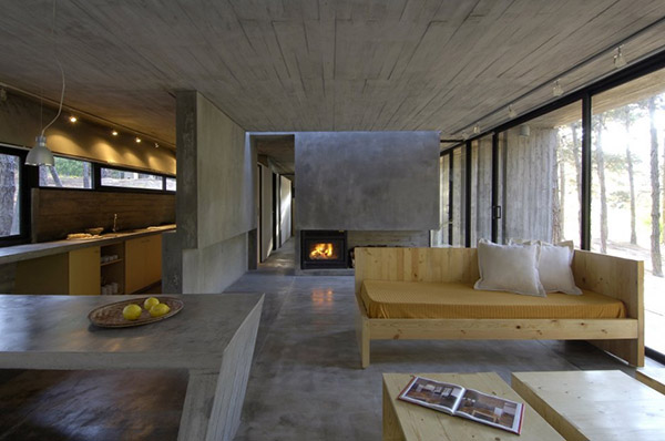 The beauty of concrete from interior design to architecture for A line salon corte madera