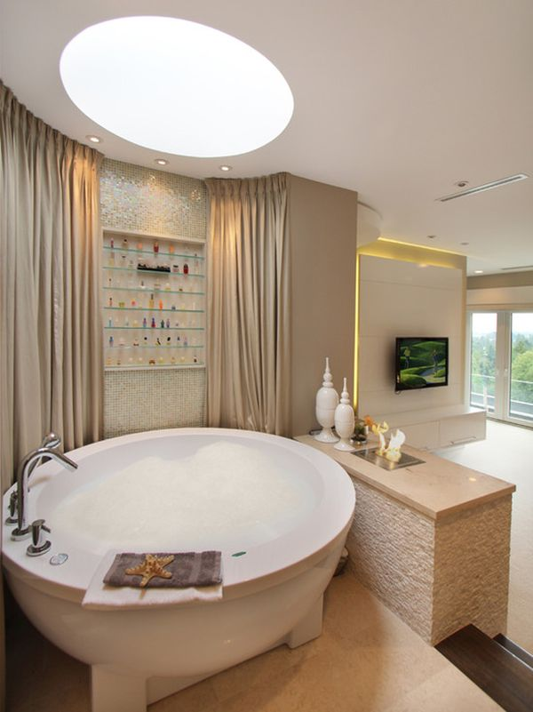 Bon 10 Round Bathtub Design Ideas And Decors That Go With Them