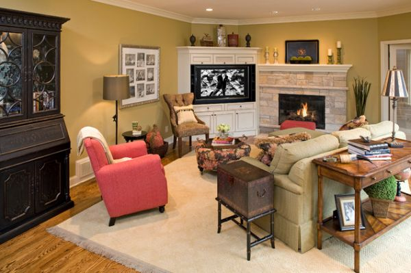Modern Living Room Designs That Use Corner Units