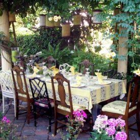 easter brunch outdoor garden
