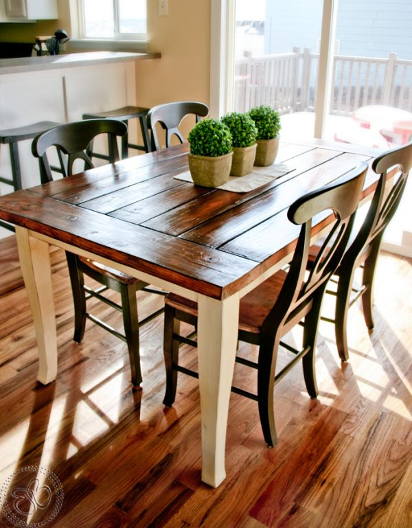 Stylish Farmhouse Dining TablesAirily romantic or casual and cozy