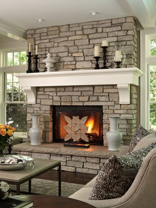 Contemporary Living Room Fireplace Ideas Remodelling