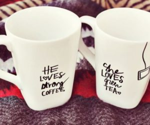 10 DIY hand-painted mugs –  a great gift for everyone