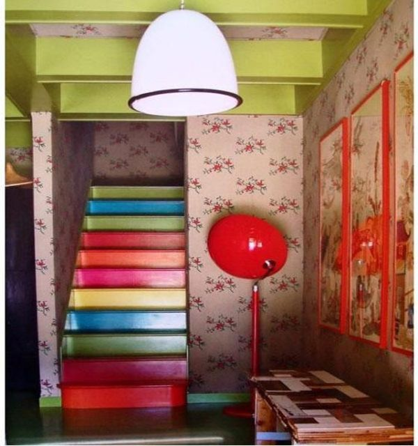 10 Eye Catching Staircase Designs For Unique Home Decor: A Simple Way Of Adding Color And Dynamism