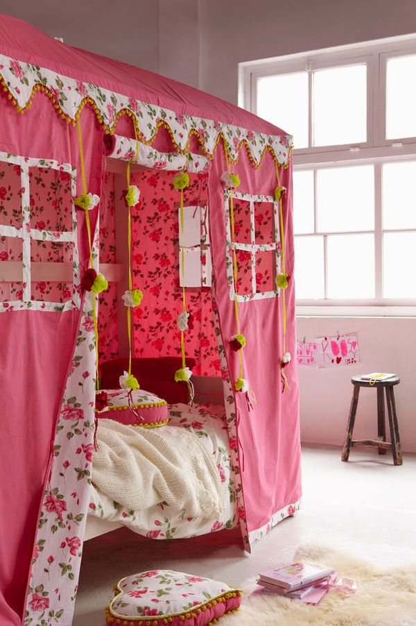 Creating magical spaces for kids at home Twin bed tent ikea
