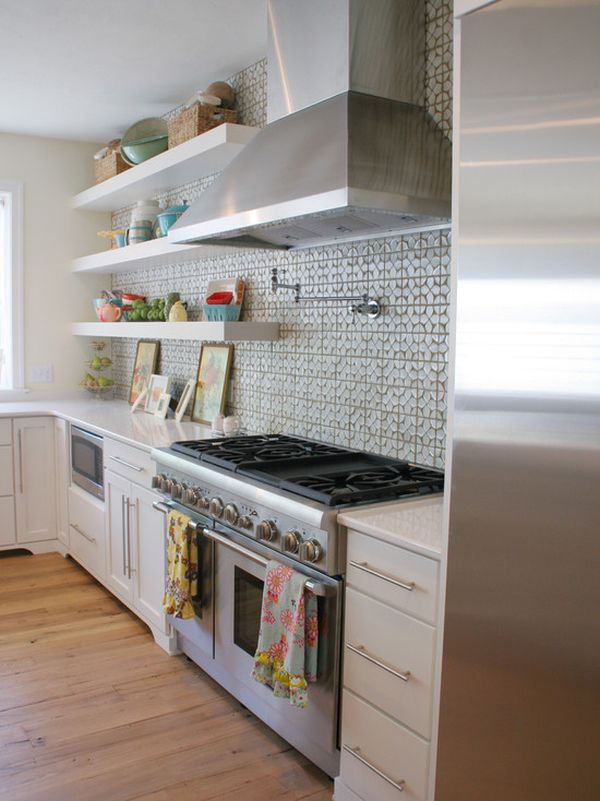 Kitchen Backsplash Shelves 15 backsplash shelves – both practical and good-looking