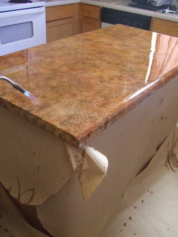 Covering countertops to look like granite