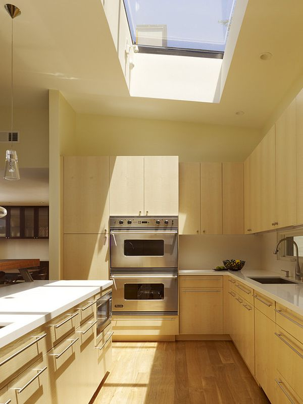 Small Kitchen Skylight Low Ceiling
