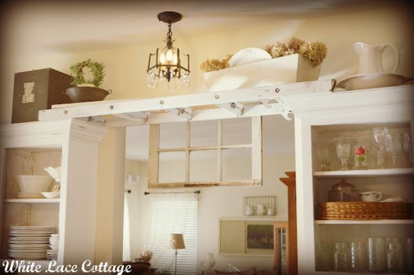 5 ideas for decorating above kitchen cabinets - What to do with the space above kitchen cabinets ...