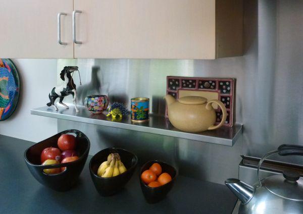 Backsplash Shelves Both Practical And Good Looking