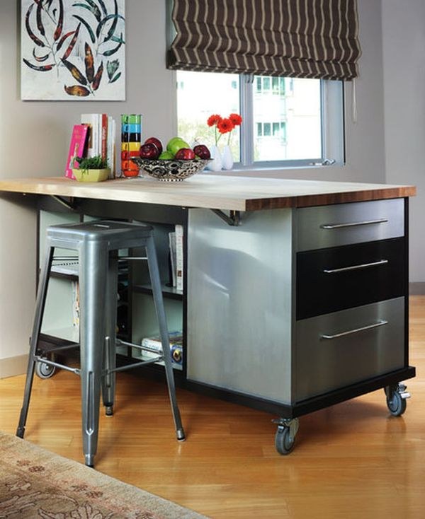 Large Kitchen Island With Casters
