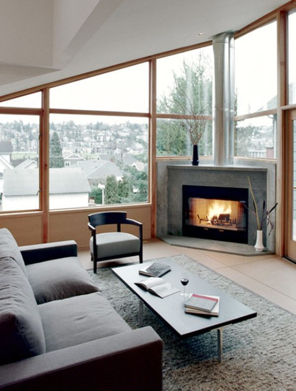 Living Room With Fireplace In The Corner modern living room designs that use corner units