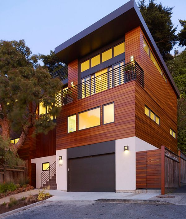 Exterior House Paneling : Wood paneling facades texture and beauty ready to be