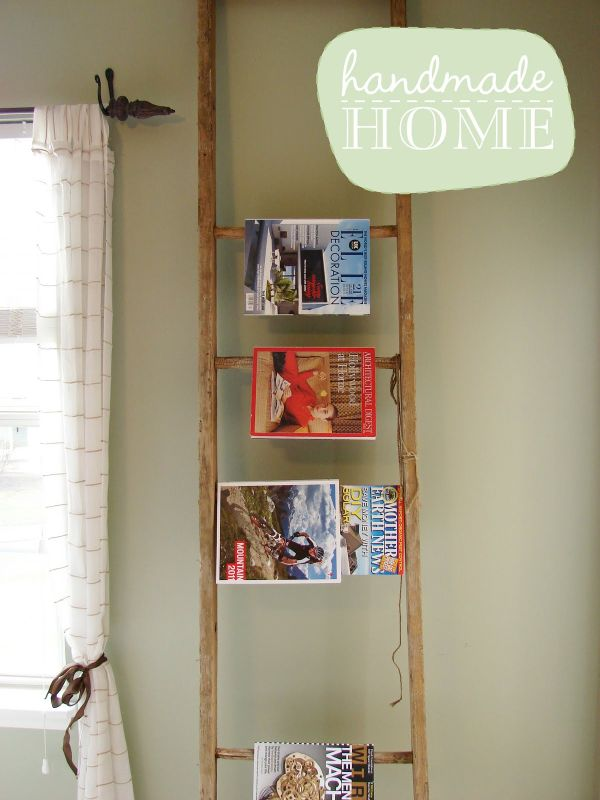 H72 Home Office Murphy Intended Old Ladder 20 Diy Magazine Rack Projects