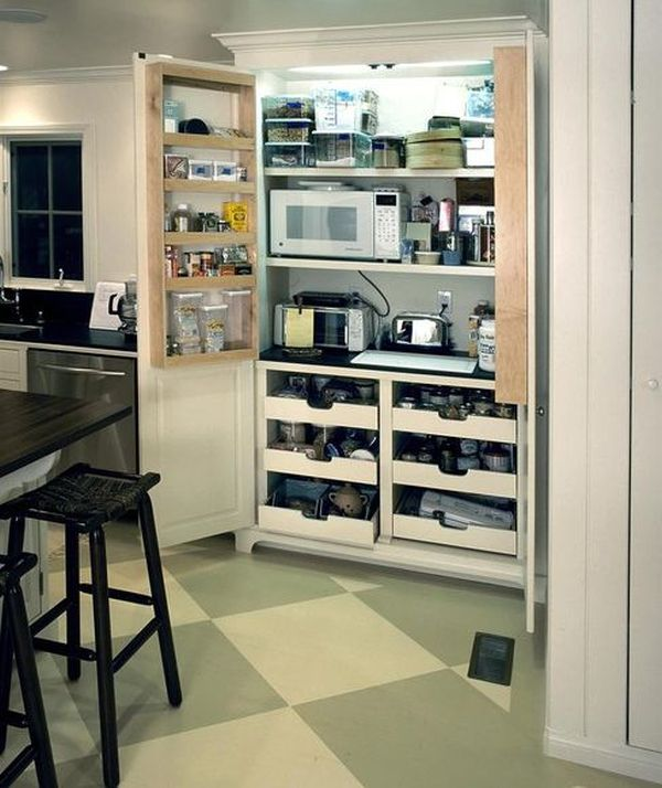 Kitchen Shelves For Microwave