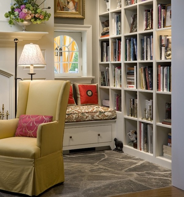 lighting ideas for attic - Reading Nook Essentials Modern Literary Storage Ideas