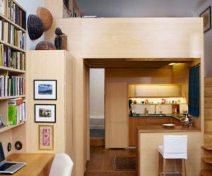 Tiny apartment in Manhattan featuring custom made furniture