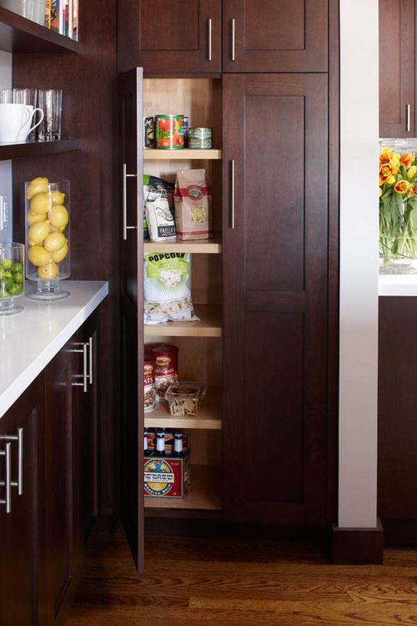 15 organization ideas for small pantries for Built in kitchen cupboards for a small kitchen