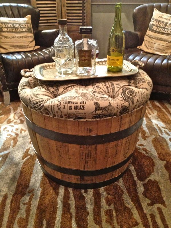 19 interesting ways of using wine barrels in home d cor. Black Bedroom Furniture Sets. Home Design Ideas