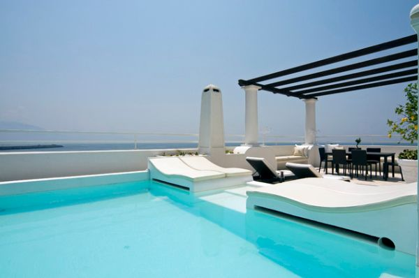 Use Accessories To Link Your Island To The Rest Of Your: Unusual Outdoor Swimming Pool Designs