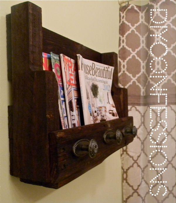 Towels Rack + Magazine Rack.