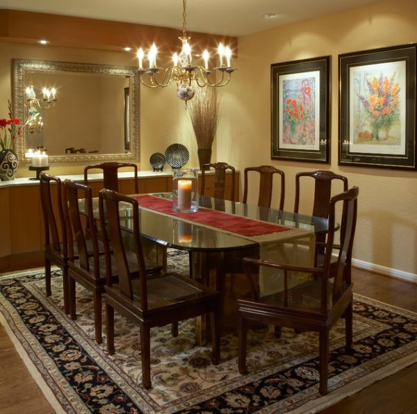 How to use runners in traditional dining rooms for Traditional dining room