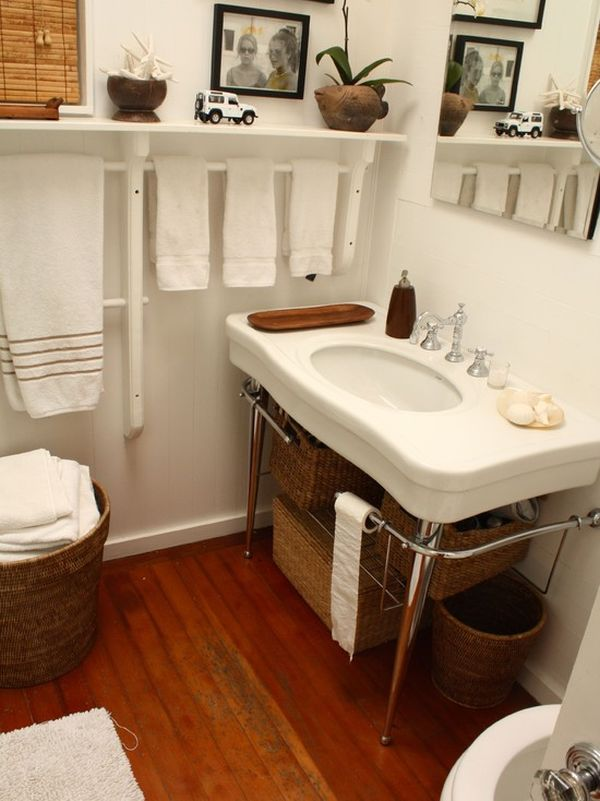 7 creative uses for towel racks