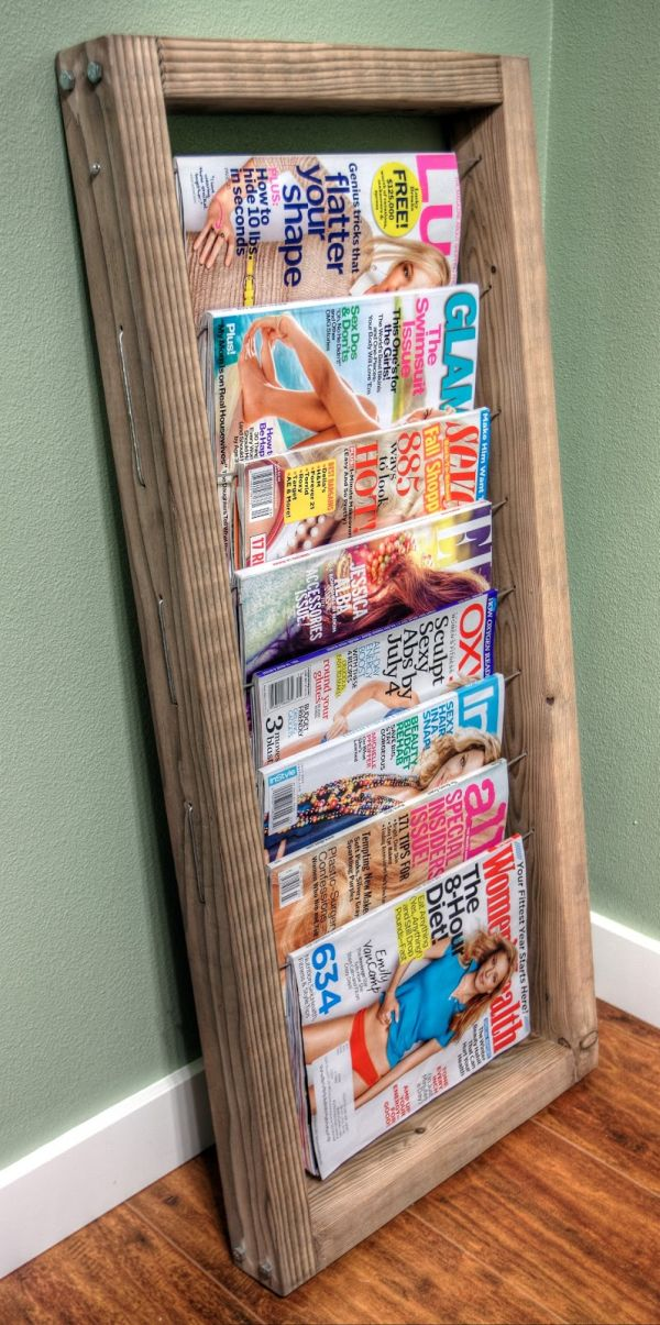 Diy magazine rack projects