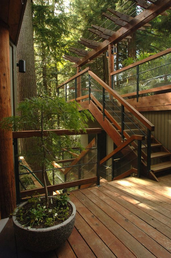 Wood Patio Steps Pictures: How To Design Exterior Stairs