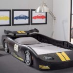 Black Delta Children Turbo Race Car Twin Bed