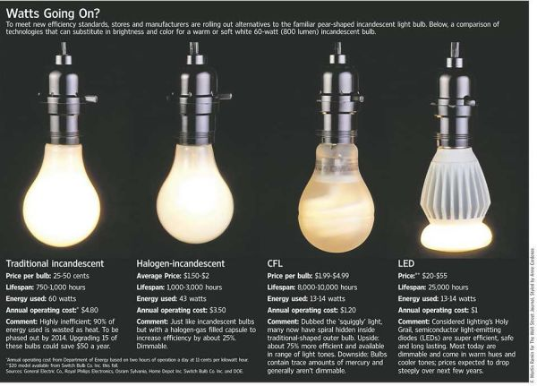 Learn How Much Energy Your Light Bulbs Help You Save