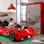 Twin Size Kids Race Car Bed Frame