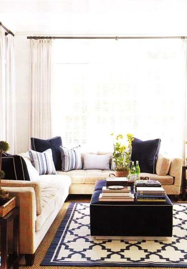 Blue And White Living Room Decorating Ideas decorating with beige and blue: ideas and inspiration