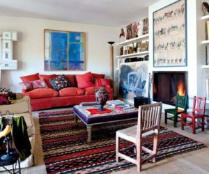 An artist's home filled with vibrant accents