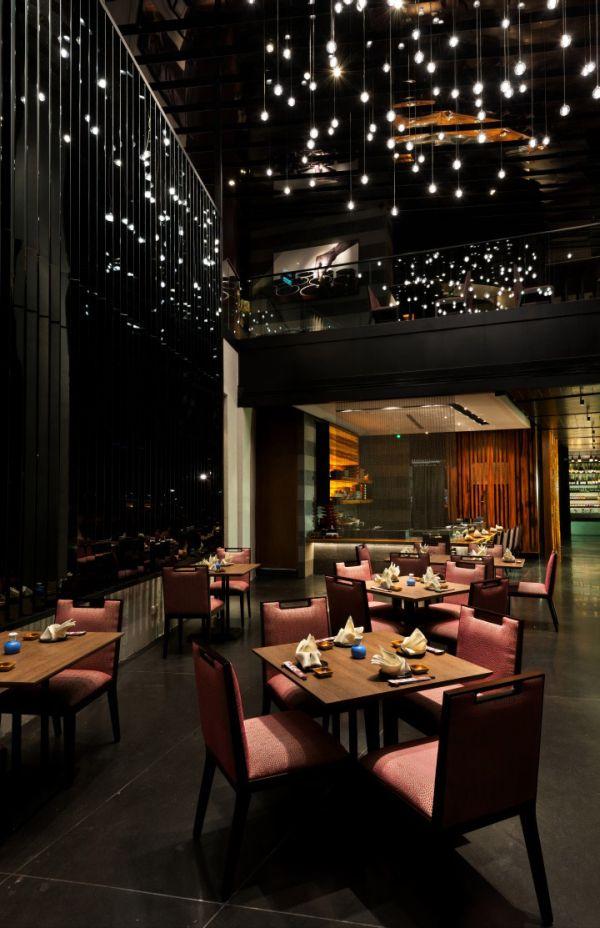 lighting ideas for restaurant dining room with 13 Stylish Restaurant Interior Design Ideas Around The World on Ho Chunk Grill furthermore Decor Ideas Indian Restaurants moreover Tabledecor moreover Luxury Modern Living Room in addition Makeup Vanity Made Reclaimed Wooden Pallets.