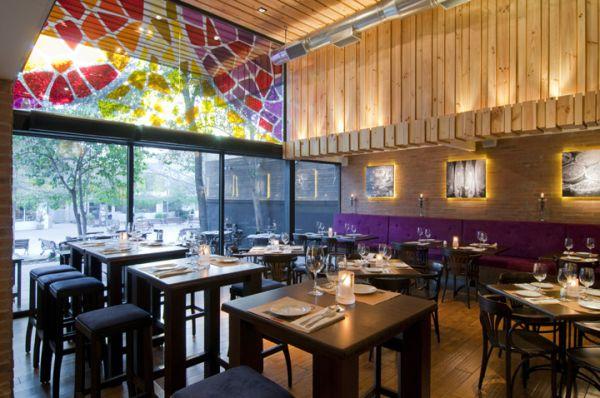 13 stylish restaurant interior design ideas around the world for Restaurant window design