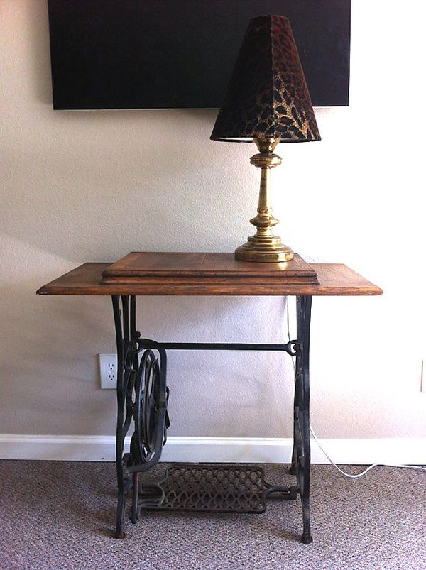 Sewing Machine Table Repurposed Ideas