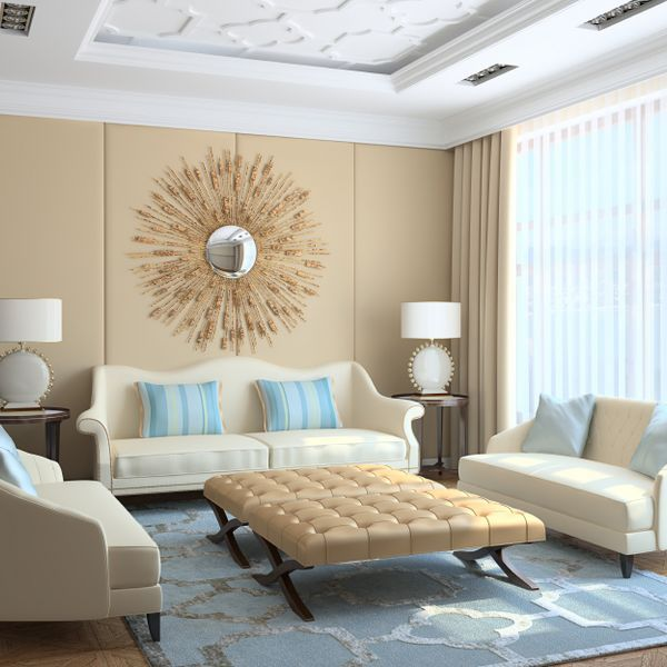 Bedroom Ideas Cream And Gold decorating with beige and blue: ideas and inspiration