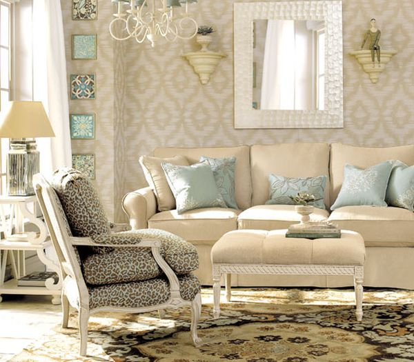 Decorating with beige and blue ideas and inspiration for Living estilo clasico