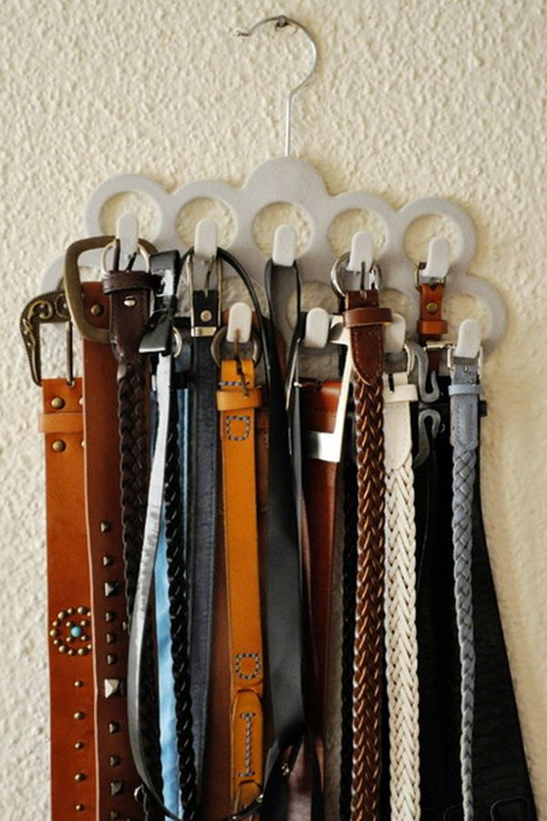 Diverse Storage Ideas For Your Belts