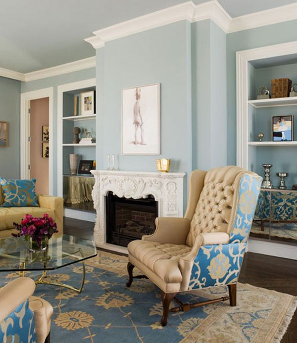 Beige And Gray Living Room decorating with beige and blue: ideas and inspiration