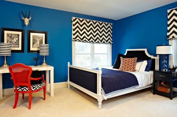 15 blue bedrooms with soothing designs. Black Bedroom Furniture Sets. Home Design Ideas